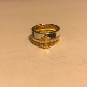 Coach anchor stack ring
